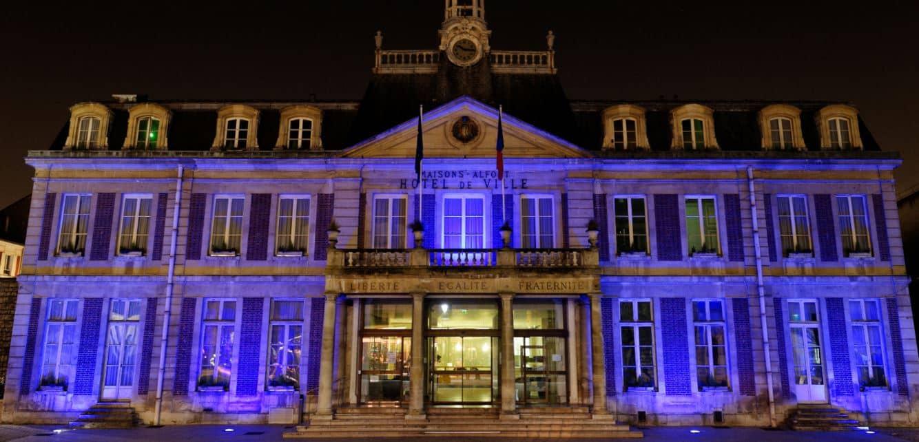 Eclairage de l'hôtel de ville de Maisons-Alfort par Fayat Energie