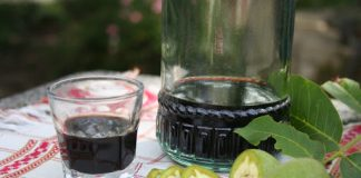 la fabrication du vin de noix